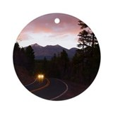 Mountain Sunset Ornament (Round)