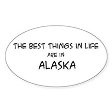 Best Things in Life: Alaska Oval Decal