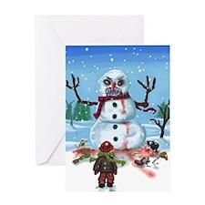 Little Timothys LAST Snowman Greeting Card