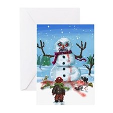 Little Timothys LAST Snowman Greeting Cards (Pk of