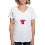 DENMARK SOCCER Women's V-Neck T-Shirt