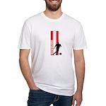 DENMARK SOCCER 3 Fitted T-Shirt