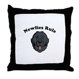 Newfies Rule Throw Pillow