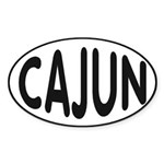 Cajun Zydeco Sticker (Oval 10 pk)