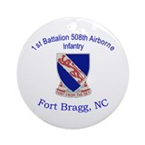 1st Bn 508th ABN Ornament (Round)
