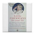 Little Americans Do Your Bit Tile Coaster