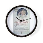 Little Americans Do Your Bit Wall Clock