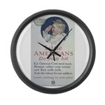 Little Americans Do Your Bit Large Wall Clock