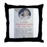 Little Americans Do Your Bit Throw Pillow