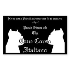 Cane Corso Rectangle Decal