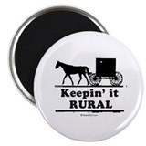Keepin' it rural ~ 2.25&quot; Magnet (10 pack)