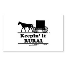 Keepin' it rural ~ Rectangle Decal
