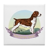 Welsh Springer Spaniel: Banne Tile Coaster