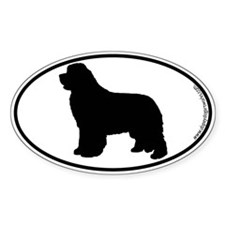Newfoundland SILHOUETTE Oval Decal