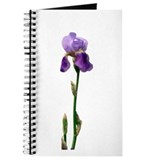 Purple Iris Faux Pastel Journal