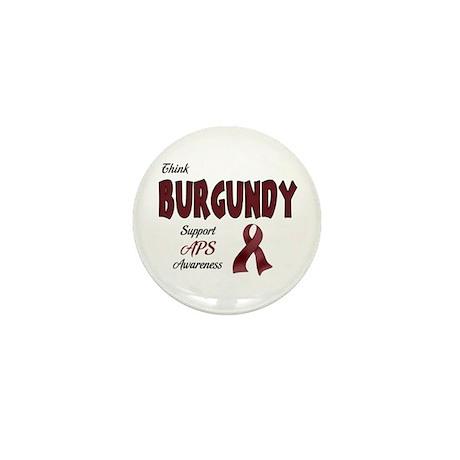 Think BURGUNDY Mini Button (100 pack)