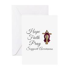 Hope Faith Pray Greeting Card