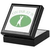On Par At 75 Keepsake Box