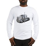 Kenworth W900 White Truck Long Sleeve T-Shirt