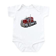 Kenworth W900 Maroon Truck Infant Bodysuit