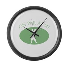 On Par At 50 Large Wall Clock
