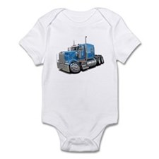 Kenworth W900 Lt Blue Truck Infant Bodysuit