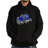Kenworth W900 Blue Truck Hoody