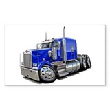 Kenworth W900 Blue Truck Decal