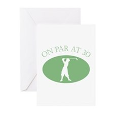 On Par At 30 Greeting Cards (Pk of 20)
