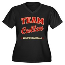 Team Cullen Vampire Baseball Women's Plus Size V-N