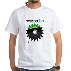 boycott bp White T-Shirt