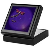 Starry Skies Dragonflies Keepsake Box