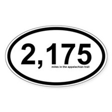 2175 - Appalachian Trail Miles Decal