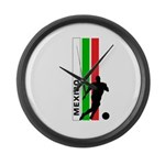 MEXICO FUTBOL 3 Large Wall Clock