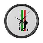 MEXICO FUTBOL 3 Large Wall Clock