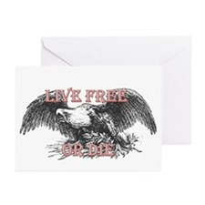 LIVE FREE OR DIE Greeting Cards (Pk of 20)