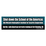 School of the Americas Bumper Bumper Sticker