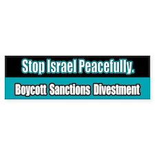 Israel Boycott Sanctions Divestment Bumper Bumper Sticker