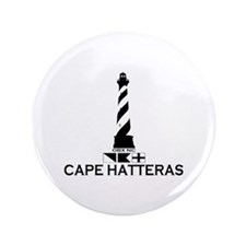 "Cape Hatteras NC - Lighthouse Design 3.5"" Button"