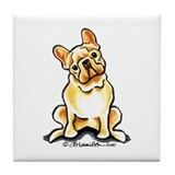 Fawn French Bulldog Tile Coaster
