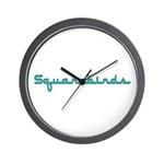 Squarebirds Wall Clock