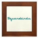 Squarebirds Framed Tile