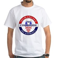 Stop Illegal Immigration - front/back Printed Whit