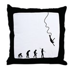 Bungee Evolution Throw Pillow