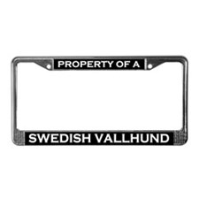 Property of Swedish Vallhund License Plate Frame