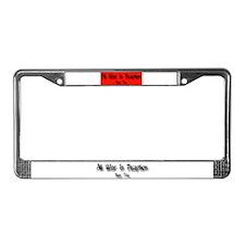 No Nukez License Plate Frame