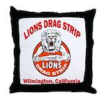 Lions Drag Strip Throw Pillow