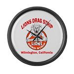 Lions Drag Strip Large Wall Clock