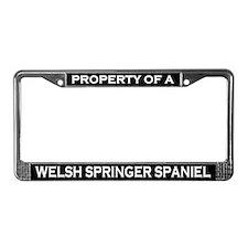 Property of Welsh Springer Spaniel License Frame