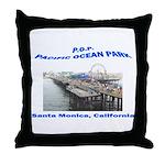 Pacific Ocean Park P.O.P. Throw Pillow